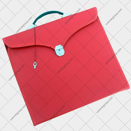 Masonic Apron File Case Red