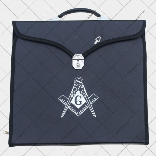Masonic Apron File Case with Square and Compass