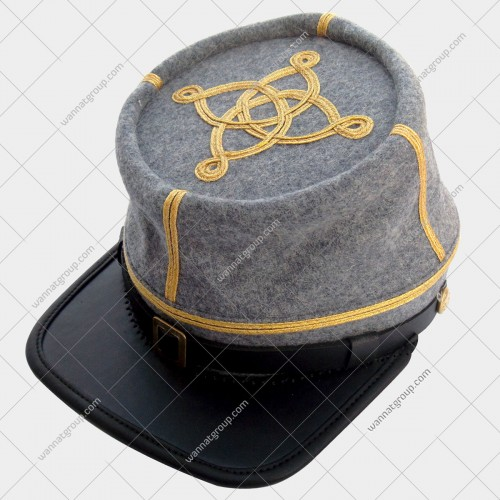 Civil War Confederate Grey Officer's Kepi -Captain