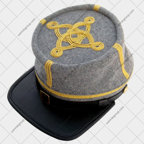 Civil War Confederate Grey Officer's Kepi - Colonel