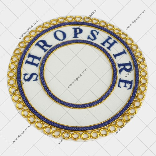 Craft Provincial Un Dress Apron Badge Blue Province SHROPSHIRE