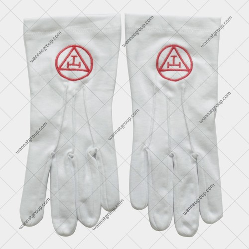 Royal Arch Cotton Gloves with Triple Tau